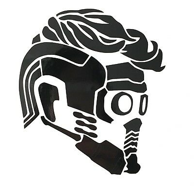 Guardians of the Galaxy Starlord Mask Profile Vinyl Decal Sticker