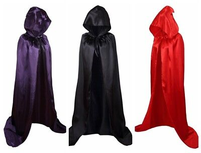 Unisex Party Hooded Cloak, Full Length Robe Cape for Cosplay Costume