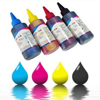 100ml couleur Kit recharge de cartouche d'encre For HP Canon Brother imprimante