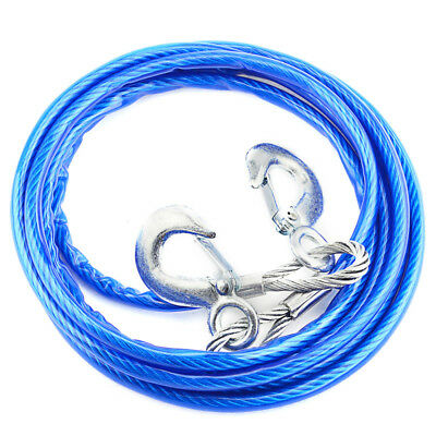 Car Tow Rope Pull Towing Strap Hooks Heavy Duty 5 Tons Van Road Recovery Tool 4M