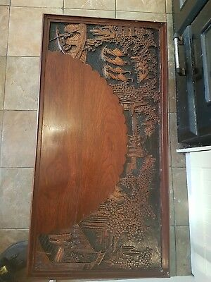 Oriental Wood Carved Coffee Table