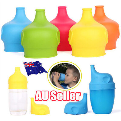 Toddlers Babies Silicone Sippy Lids For Any Cup Spill Proof Reusable Creative EA