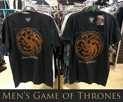 Official GAME of THRONES Mens Primark Licensed T-Shirt with Gold Sigil Logo XMAS