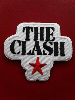 The Clash New White Design English Punk Rock Band Embroidered Patch Uk Seller