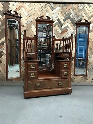 Victorian Swing Mirror Dressing Table