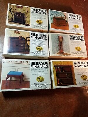 The House Of Miniatures 6 Unopened Dollhouse Furniture Kits