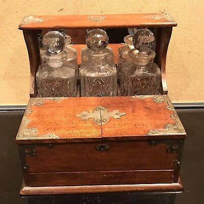 Quality Oak Cased Tantalus And Games Late Victorian