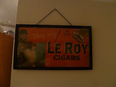 RARE 1920s LE ROY CIGAR POSTER AD VINTAGE HARD TO FIND