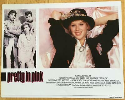 great close up of Molly Ringwald in Pretty In Pink 1986 English lobby card 289