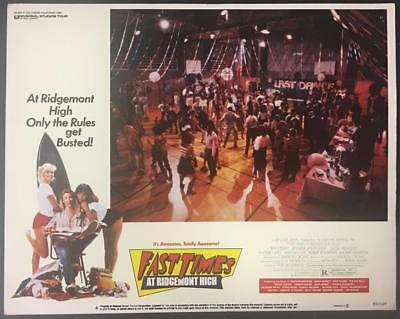Sex,drugs & rock n' roll at Fast Times at Ridgemont High #4 1982 lobby card 198