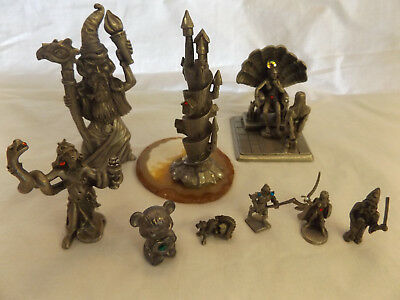 Lot of PEWTER MINIATURE FANTASY Mythical Magical FIGURES Partha, Spoontiques etc