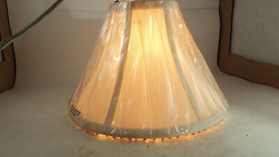 Vintage Lined Lamp Shade with beaded Lower edge NOS