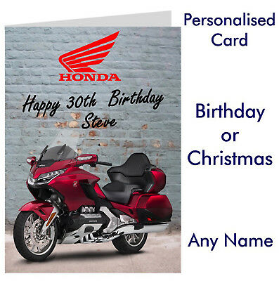 Personalised Bmw Motorbike Birthday Or Christmas Card Any Name Age