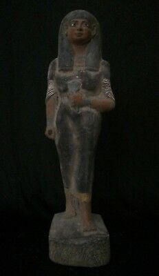 Rare EGYPTIAN ANTIQUE Queen Nakhtmin ANCIENT EGYPT STATUE GODDESS Stone 1300 BC