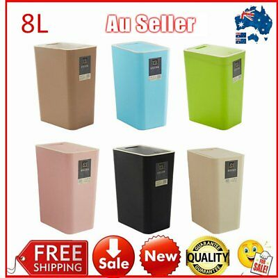 8L Kitchen Swing Pull Out Bin Stainless Steel Garbage Rubbish Waste Trash QC A
