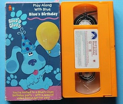 Blues Clues Blues Birthday Vhs 1998 893 Picclick