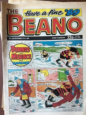 Box L The Beano Comic No 2424 December 31st 1988 New Year's Eve