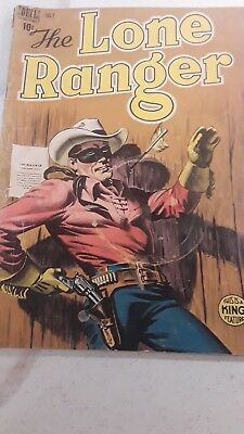 THE LONE RANGER #13 Dell Golden Age Western Cowboy July 1949 Comic King Feature