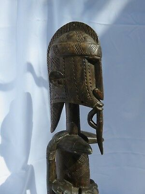 Dogon Seated Maternity Sculpture Tribal African Art 40 inch