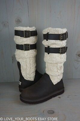 c09a36bfde2 UGG CHOCOLATE BROWN Cassidee Tall Cable Knit Boots Size US 7,EU 38 ...