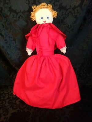 Vintage Upside Down Topsy Turvy Doll Little Red Riding Hood Grandma and Wolf