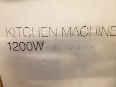 Kenwood KVL4100S Chef XL 1200W Stand  Mixer 6.7L Bowl Silver