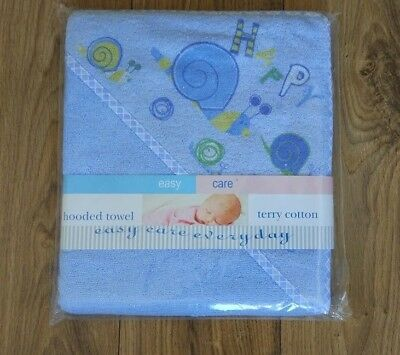 Beautiful Baby Boy Hooded Towel Bathrobe, towel,  blue, NEW