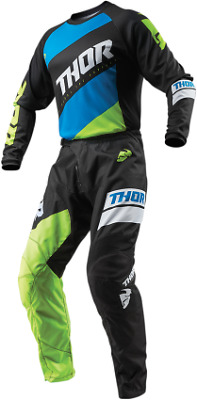 2019 Thor Sector Shirt Jersey Pant Combo Black Yellow All Sizes Mx Offroad Gear