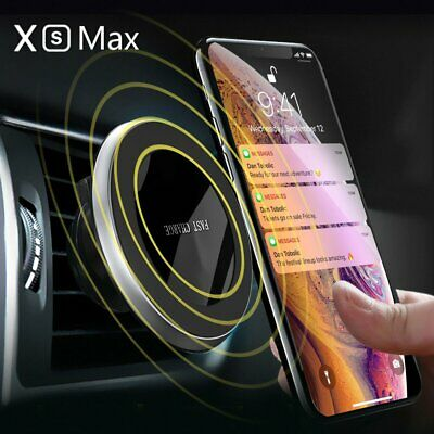 Qi Wireless Car Fast Charger Magnetic Phone Holder For iPhone X XS Max Xr 8 Plus