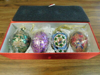 Gorgeous Set of Four Joan Rivers Classics Collection Egg Ornaments