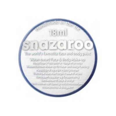 PROFESSIONAL 18 ml WHITE Clown Mime SNAZAROO FACE & BODY PAINT MAKE UP