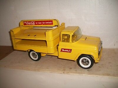 Vintage 1960's Metal Buddy L Coca-Cola Delivery Truck Great shape