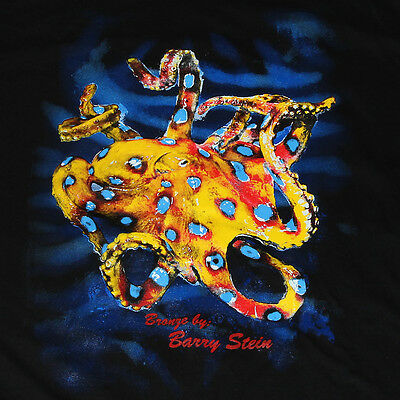 TEE SHIRT Of A Bronze Octopus Figurine Sculpture Statue Aquatic Art Ocean Unique