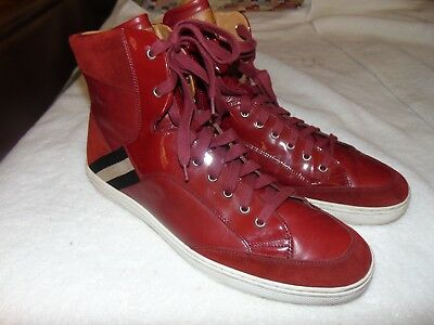 dfa1dc3ac9550d Classic Bally Oldani Red Mixed-Leather High-Top Sneaker 13 D SOLD OUT  599