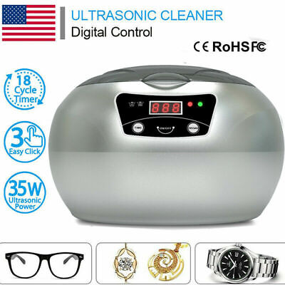Digital Ultrasonic Polishing Jewelry Cleaner For Eyeglasses Watches Rings Parts