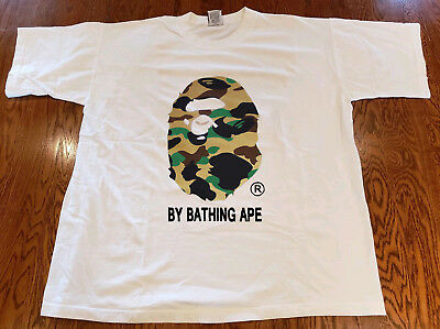 bf193dc57 VINTAGE BAPE 1ST Camo T-Shirt By Bathing Tee White REPRINT - $15.99 ...