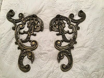 Ornate Cast Iron Corbels  with Flowers