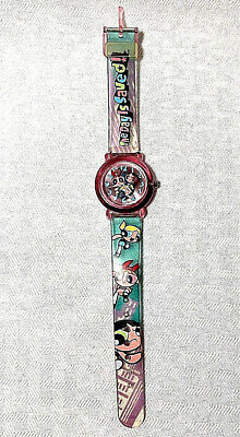 Cartoon Network Powerpuff Girls 2000 See Thru Jelly Animated Armitron Watch