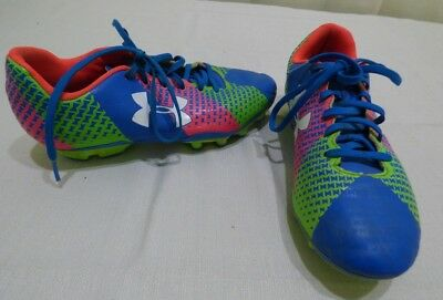 Youth's Boys/Girls UNDER ARMOUR CF FORCE HG Jet Blue Soccer Cleats Shoes 4.5Y
