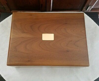 Decatur Industries Vtg Walnut Cigar Humidor
