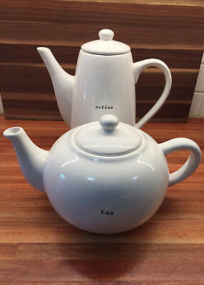 NEW - NEVER USED - Ceramic coffee and tea pot set for serving