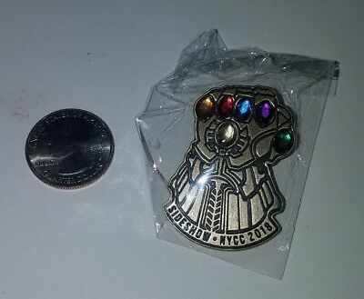 NYCC 2018 Exclusive Sideshow Infinity Gauntlet Pin Limited Marvel