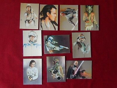 Set Of Star Wars Galaxy Art By Brian Rood Trading Cards All 10 Topps 2011