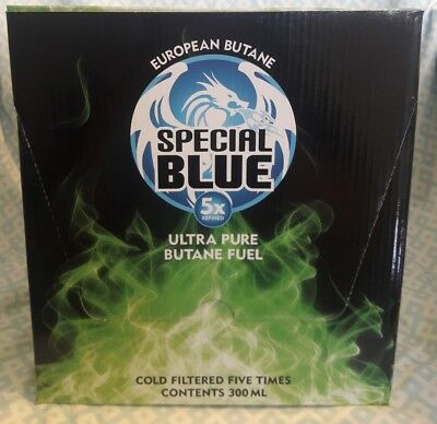12 Cans Butane Gas Special Blue 5X Refined Lighter Refill