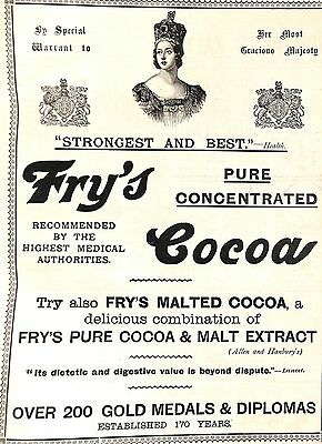 Original Vintage Frys Cocoa Advertisement The Graphic June 1897 Jubilee Edition