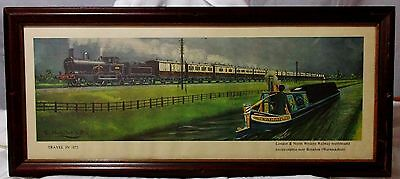 rare BRITISH RAILWAY print by Cuthbert Hamilton Ellis trains 1875 London VINTAGE