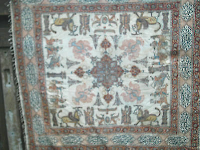 Antique  Islamic Shawl Paisley Kashmir  Printed Signed  Large