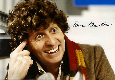 TOM BAKER 4th FOURTH DOCTOR WHO SIGNED AUTOGRAPH 6 x 4 inches PRE PRINTED PHOTO