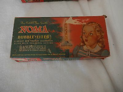Old Vintage Set Of 10 + 1 Extra Noma Bubble Lites In Original Girl Display Box