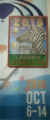 2018 Launch Director Zebra Albuquerque International Balloon Fiesta 47th  Pin